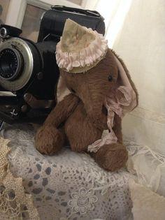 Ella the whimsical circus Elephant artist by olivegroveprimitives, $90.00