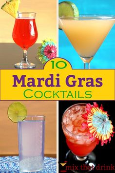 Mardi Gras is a perfect holiday for cocktails. Whether you're partying your way through New Orleans or sitting at home bored, one of these Mardi Gras drinks is sure to put you in the mood for good times.