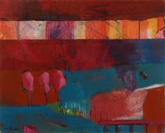 Joyce McCarten - A Secret Life. Acrylic and Collage on paper. #Abstract #Landscape