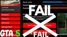 Gta 5 how to make money gunrunning dlc sell stock fast tips gta gta 5 making money bunker selling stock what happens if you fail ccuart Choice Image