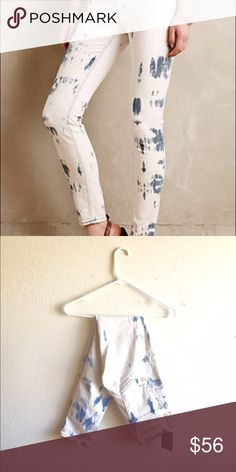 """*NWT* Anthro (McGuire) skinny jeans New with tags. So fun for summer! Flattering fit. Brand is McGuire, purchased at Anthropologie. Waist- 14"""", front rise- 9"""", inseam- 28.5"""". Offers through offer button  Anthropologie Pants Skinny"""