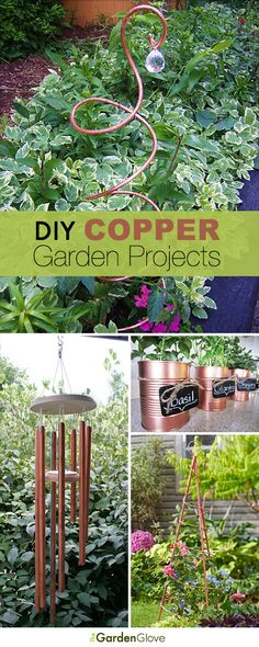 DIY Copper Garden Projects • Lots of Ideas  Tutorials!