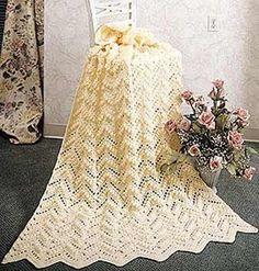 Popcorn Ripple Crochet Afghan