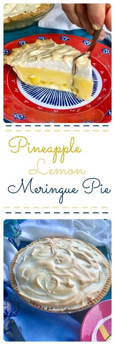 Aunt Barbaras Pineapple Lemon Meringue Pie - From Charm to Table Desserts Rafraîchissants, Sweet Desserts, Dessert Recipes, Pineapple Pie Recipes, Pineapple Desserts, Scary Food, Refreshing Desserts, No Bake Snacks, Lemon Meringue Pie