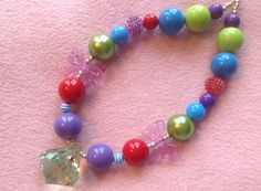 Chunky Bead Necklace Ariel from The Little by AnastynsBowtique, $15.00