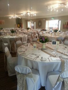 gorgeous hessian and lace sashes by Got it Covered