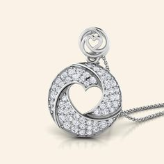Buy Diamond Circle Of Love Pendant Jewellery Online - Caratstyle.com