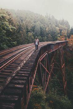 Endless railroad. Travel inspiration