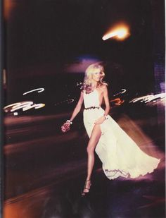 Night out...white dress, gold belt, black sandals…. wow! i love super skinny bodies! beautiful!