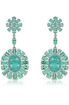 SUTRA JEWELS ~ Paraiba Tourmaline Earrings