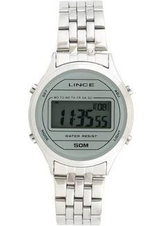 9acf14e1b34 Relógio Lince Feminino Quadrado Digital Vintage Sdph040l - R  199
