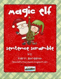 Magic Elf Sentence Scramble freebie