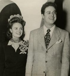 MGM make-up artist extraordinaire William Tuttle with his bride actress Donna Reed in 1943.