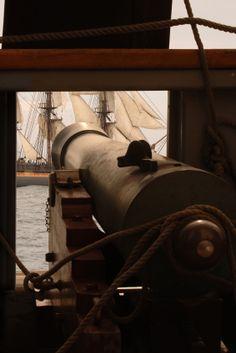 Pirate ship, cannon