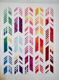 Feathers quilt - pattern designed by Nydia Kehnle and Alison Glass