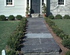 Pictures of Landscaping for Front Door Entrances: Symmetrically Designed Front Door Entrance