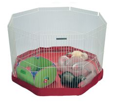 $36.99 Small  Animal Playpen. • Designed to work with Marshall Small Animals Play Pens.  • Use as a mat indoors or a cover for outdoor use.  • Made of durable, easy-to-clean fabric.  http://marshallpet.com/product-type/ferret/43/8-panel-play-pen-mat