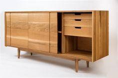 Mid Century Modern Credenza / Buffet Modern White Oak // AVAILABLE NOW DISCOUNTED