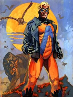 "Animal Man (Bernhard Baker) acquires the ability to temporarily ""borrow"" the abilities of animals.Team affiliation justice League America First appearance Strange Adventures #180 (September 1965) Created by Dave Wood Carmine Infantinobilities Can gain the powers of any animal that exists or has existed on a planet via access to ""The Red"""