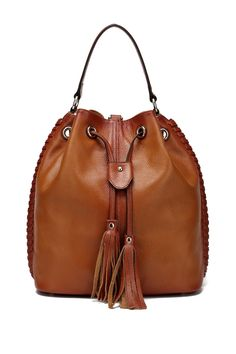 Chantel Leather Bucket Bag Backpack