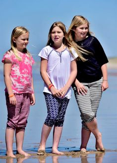 Princess Alexia, Princess Ariane and Princess Amalia The royal family during the annual summer photoshoot in Wassenaar