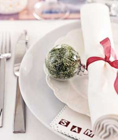 Christmas ornament napkin holder