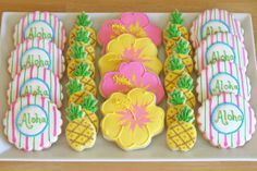 Luau Party Cookies - by Glorious Treats