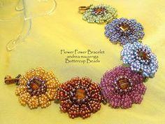 Flower Power--class offered by Buttercup Beads---yum