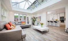 to add value to a house: 20 ways to boost your home's value Orangery extension to old homeOrangery extension to old home Bungalow Extensions, Garden Room Extensions, House Extensions, Kitchen Extensions, Kitchen Orangery, Conservatory Kitchen, Orangery Extension Kitchen, Conservatory Extension, Conservatory Ideas Sunroom