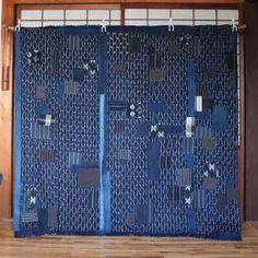 Japanese Boro Patchwork Futon Cover, Vintage Japanese Indigo Aizome Cotton Folk Textile, Handwoven, Sashiko Stitched, Wall Art, Tablecloth by KominkaFabricsJapan on Etsy