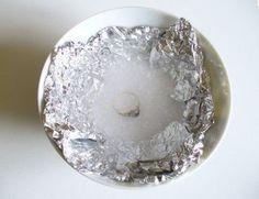 Nettoyer bague argent avec du sel