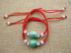 Fashion Feng Shui Chinese Oriental Oval Deep Green  Beads Red String Bracelet Bangle Adjustable Feng Shui, Bangle Bracelets, Bangles, Red String Bracelet, Jade Beads, Jade Green, E Bay, Oriental, Beaded Necklace