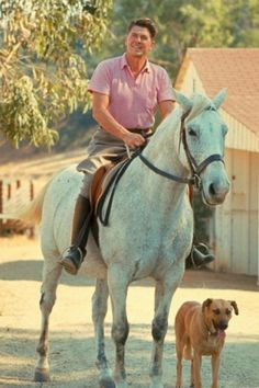 A president, his dog, and a horse - still commands attention