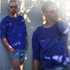Thierry Lasry Sunglasses, Maison Martin Margiela Cut Out Sweater, Cheap Monday Diy Cut Off Shorts
