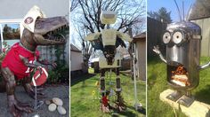These lawn decorations are not for the faint of heart. Check out our colleciton of nine of the kookiest lawn decorations out there. Outdoor Gazebos, Outdoor Decor, Outdoor Living, Classic American Diner, Minions Friends, Cedar Roof, Yard Maintenance, Lawn Decorations, Fire Pit Designs