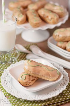 Instead of a heavy pie, try a light and airy eclair version with an apple pie filling and caramel glaze. Get the recipe from BakingDom.   - Delish.com