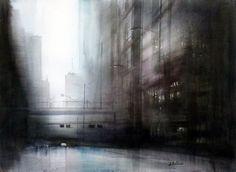 aitor renteria | Urbano. Acuarela sobre papel, 50x75 cm