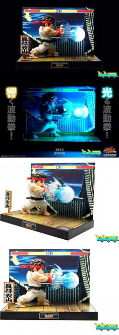 Street Fighter II Ryu Light-up Diorama Will Hadouken Your Money Hong Kong-based toymaker BigBoysToys is working on the next best thing to Street Fighter Amiibo. Its Street Fighter TNC line feature miniature figurines of the World Warriors, with a diorama stand as well as lights and sound effects. First up is Ryu, his hadouken and his Street Fighter II stage. - See more at: http://technabob.com/blog/2015/02/02/street-fighter-ii-ryu-diorama/#sthash.glVAJUCs.dpuf