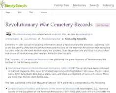Top 7 Ancestry Websites for Revolutionary War Genealogy