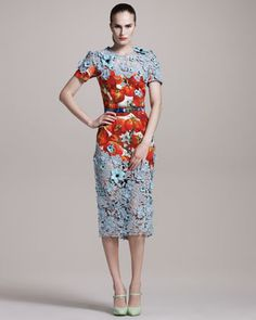 Now I know why it did not have a price tag at Neimans.  It's 11,990.00.  This dress is amazing.  A work of art.  So beautiful.