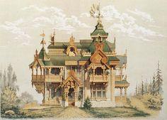 17,125,191 km² Wooden Architecture, Russian Architecture, Unique Architecture, Victorian Architecture, Architecture Drawings, Historical Architecture, Culture Russe, Russian Fashion, Russian Style