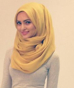 Yellow and Gold Hijab Trends and Styles