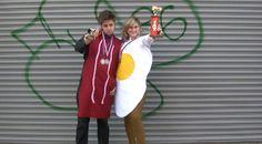 DIY Bacon & Egg Costume via @BuzzFeed