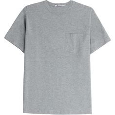 T by Alexander Wang Classic T-Shirt ($195) ❤ liked on Polyvore featuring tops, t-shirts, shirts, tees, grey, crew neck shirt, crew t shirts, crewneck shirts, gray t shirt and grey shirt