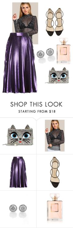 """""""Untitled #387"""" by tiana25 ❤ liked on Polyvore featuring Karl Lagerfeld, Gucci, Giuseppe Zanotti and Chanel"""