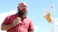 Keith Stansell eating ice cream and dreaming. Beard Humor, Eating Ice Cream