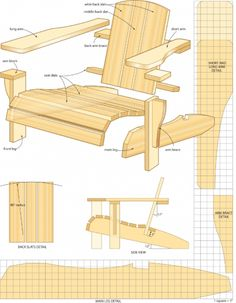 Outdoor Slat Chair Plans | Woodworking Session