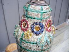 Fratelli Fanciullacci majolica  Lamp antique by OriginalArtt