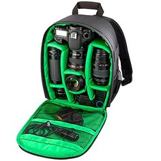 Professional DSLR Camera Backpack Shockproof Bag Standard Green -- Want additional info? Click on the image. (This is an affiliate link)