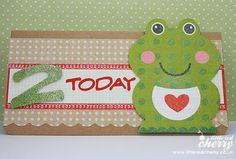 Froggy birthday card.